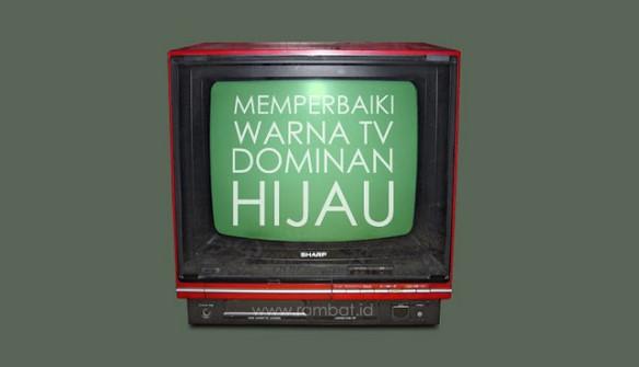 CARA MEMPERBAIKI TV DOMINAN HIJAU