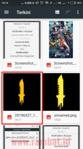 Download Font Free Fire dan Cara Membuatnya di PixelLab - Pilih gambar pisau
