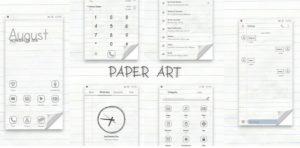 Kumpulan Tema Huawei HWT Keren - Paper Art