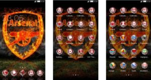 Download Tema Arsenal untuk Hp Android Apk - Fire