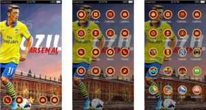 Download Tema Arsenal untuk Hp Android Apk - Mesut Ozil