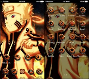 Tema Naruto Android Kyubi Rikudo Sennin