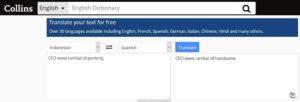 Situs Penerjemah Bahasa Terbaik & Akurat - Collins Translation