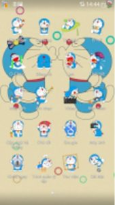 Tema Oppo Doraemon Lucu - Cream