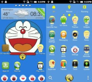 Tema Doraemon Android Terbaru Go Launcher
