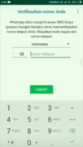 Cara Memasang Tema Whatsapp Doraemon - Masukkan Nomor