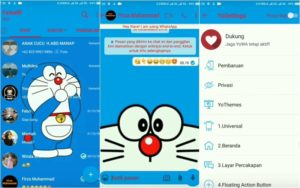 Cara Memasang Tema Whatsapp Doraemon - Selesai