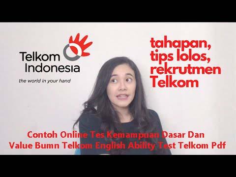 Contoh Online Tes Kemampuan Dasar Dan Value Bumn Telkom English Ability Test Telkom Pdf